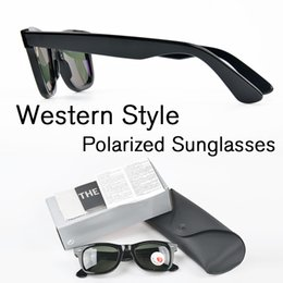 Wholesale Fashion Designers Italy - Western Style Brand Designer Polarized Sunglasses Men Classic Made In Italy sqaure frame Polarized UV400 sunglasses With Box and Accessories