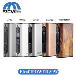 Wholesale Usb Battery Box - Authentic Eleaf Ipower 80W Box Mod 5000mAh Built In Lipo Battery 5 Colors TCR Mode with Micro USB Charging