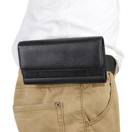 Clip flip cintura clip online-Lusso clip universale fondina cintura in vita l'uomo di vibrazione del cuoio dell'unità di elaborazione della copertura del sacchetto della cassa del telefono per tutto il cellulare 4.7 di 6.3inch