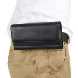 Wholesale Men Flip Phone - Luxury Universal Holster Belt Clip Waist Man Flip PU Leather Cover Bag Phone Case For iPhone 6 6S 7 Plus Samsung Galaxy S8 Plus