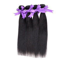 Wholesale Unprocessed Indian Hair For Sale - 3 PCS Unprocessed malaysian Straight Human Hair Natural Color Straight Hair Human Weaves peruvian Remy Hair Straight for Sale