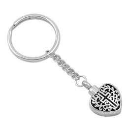Wholesale Faith Sales - Faith On Heart Memorial Jewelry Pendant For Ashes Heart Urn Key Chains Ash Holder Cremation Urn Key Rings Fashion Jewelry Cheap Sale
