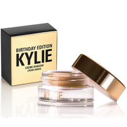 Wholesale Eye Shadow Cream Singles - Kylie Birthday Edition Creme eye Shadow Eyeshadow Cream Makeup Creme Copper Rose Gold Black Brown Kylie Cosmetic