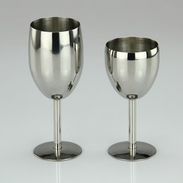Wholesale Champagne Glasses Flutes - 6oz 8oz Stainless Steel Wine Glass Made of Unbreakable BPA Free Shatterproof Steel Dishwasher Safe for Daily Formal Outdoor Use DEC253