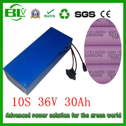 Wholesale Battery Scooters - Ebike 36v 30Ah battery for electric bike electric scooter inside 26Hm lithium battery PVC case BMS 1000w with Charger in China
