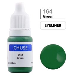 Wholesale Professional Permanent Makeup Eyebrow Inks - Wholesale-CHUSE Permanent Makeup Ink Eyeliner Tattoo Ink Set Eyebrow Microblading Pigment Professional Micro Encre A Levre 10ML Green C164
