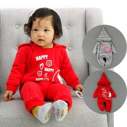 Wholesale Thick Baby Costumes - Animal Baby Rompers Hooded Jumpsuits Costume Winter Thick Warm Clothes Elephant Kids Jumpsuits Infant Outerwear Baby Wear