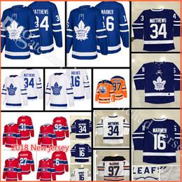 Wholesale M Leaf - 2017-2018 New Toronto Maple Leafs Hockey Jerseys 17-18 Men's #16 Mitch Marner 34 Auston Matthews stitched Jersey
