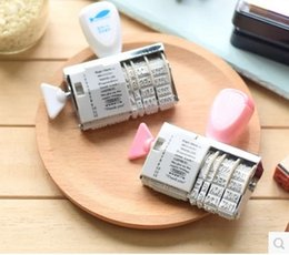 Wholesale Wholesale Date Stamps - Wholesale- Albuns Essential English Words and Date Numbers Stamp DIY roller knob stamp
