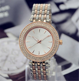 Wholesale Ladies Large Dial Watch - Cassic design style Luxury Fashion Double Crystal Diamond Ma'am Watches steel belt Quartz Large dial Ladies quartz watch wholesale