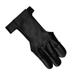 Wholesale Archery Shooting Glove - Archery Protect Glove 3 Finger Shooting Glove Suede Materials Colors Black For Compound&Recurve Bow Shooting Hunting Outdoor Sport