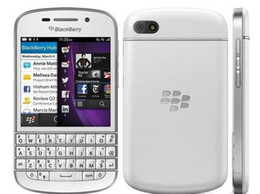 Wholesale Ram Ghz - Refurbished Original Blackberry Q10 US EU Version Unlocked Cell Phone Dual core 1.5 GHz 2G RAM 16G ROM 8.0MP 4G LTE