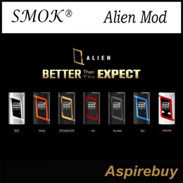 Wholesale Vw Display - Smok Alien Box Mod SMOK Alien TC Box MOD 220W VW TC Function Alien TC Mod Big OLED Display Best Match Smok TFV8 Baby Tank 100% Original