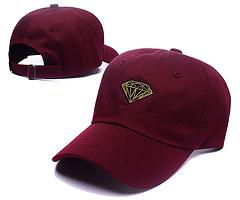 Wholesale Cheap Diamond Snapbacks - 2017fashion hip hop Red wine Diamond cap 6 Panel Snapback Hat classic men women designer snapbacks caps cheap diamond floral hat gorras bone