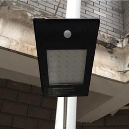 led solar street pir lights 35leds 500lm aluminum alloy sensor garden path lamps outdoor waterproof motion detection security lighting yar