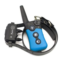 Wholesale electronic dog bark - Rechargeable&Waterproof Dog Training Collar -Vibration Static Shock Tone Training Stimulations for All Dogs Electronic Shock Training