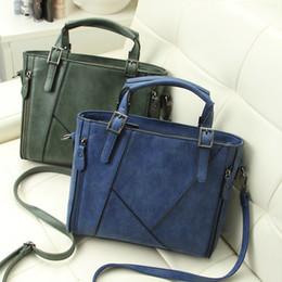 Wholesale Large Suede Handbag - Wholesale- Fashion Vintage Bolsas Femininas Women Leather Bolsos Mujer Large Capacity Grind Suede Shoulder Bag Handbags Casual-bag