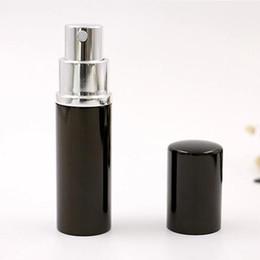 Wholesale Mini Travel Spray Bottles - Black 10CC 10ML 10 ML Mini Portable Spray Bottle Empty Perfume Bottle Refillable Perfume Atomizer Spray Travel Accessories