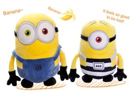 Wholesale Minions Dolls - Despicable Me 3 Plush Toys 30cm Movie Jorge Stewart Dave Minions Huggable Embroidered Yellow Doll For 2017 With Tags Free Shipping