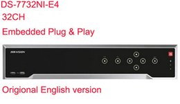 Wholesale Embedded Camera - Hikvision Original English Version DS-7732NI-E4 Embedded Plug&Play NO POE NVR 32ch 4SATA Third-party Network Cameras