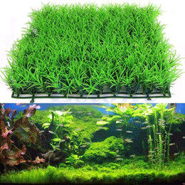 Wholesale Grass Free Lawn - Free shipping Artificial Water Aquatic Green Grass Plant Lawn Aquarium Fish Tank Landscape New