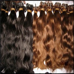 Wholesale Buy Hair Sales - Lower Price Natural Brown Hair Wave 100% Brazilian Wavy Hair Extensions 5pcs lot Buy Many Many Big Sale