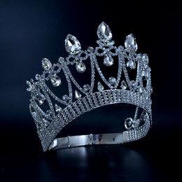 Wholesale Original Events - Crowns Original Rhinestone Crystal Mrs Beauty Pageant Contest Crown Weddings Events Bridal Hair Accessories Queen Princess Style Mo030