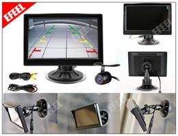 Wholesale Tft Wide - 5 inch Color TFT LCD Screen Wide View Angle Car Rear View Monitor + Wire Camera