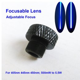 Wholesale Adjustable Focus Glasses - Focusable Laser Lens Adjustable Focus three Layer Coated Glass M9*0.5 for 405nm 445nm 450nm 50mw-5.5w 1W 2W 2.5W laser module