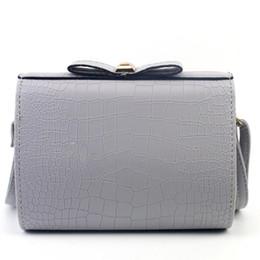 Wholesale Bag Croco - Wholesale- 2016 New Fashion Croco Bow Handbags Shoulder Bag Large Tote Ladies Purse women messenger bags bolsas feminina crossbody bags
