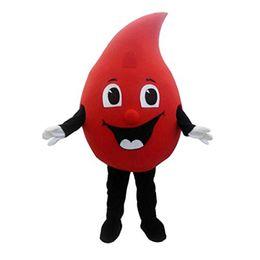 Fábrica traje mascote on-line-Venda direta da fábrica Hot Sale New especial personalizado Red gota de sangue traje da mascote Dos Desenhos Animados do Vestido Extravagante