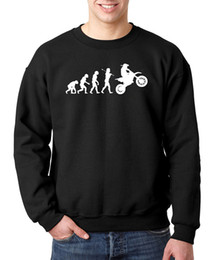 Wholesale Evolution Men - Wholesale-2016 autumn winter evolution motocross fashion hoodies men funny harajuku black dirtbike brand male sweatshirt men man hip hop