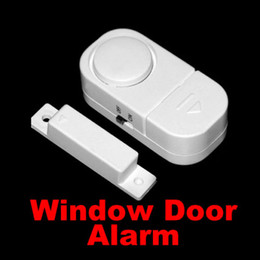 Wholesale Door Security - 100pcs New Wireless Motion Sensor Detector Home Door Window Security Burglar Alarm Free DHL FEDEX Shipping 0001