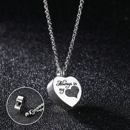 Wholesale Hearts Things - Ladies Heart Shaped Pendant Necklace Rose Gold Stainless Steel Jewelry Rotate to Open Keep Little Thing Inside Token Bottle Xmas Gift Women