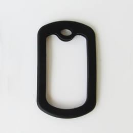 Wholesale Dogs Silicone Tags - 100pcs Black Silicone silencers for army dog tags, Rubber dog tag silencers Square and Circle shapes