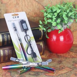Wholesale E Cig Bulk - China wholesale ego starter kit CE8 atomizer e-hookah pen chipset electronic cigarette chine e cig 2017 vape bulk purchase blister rainbow