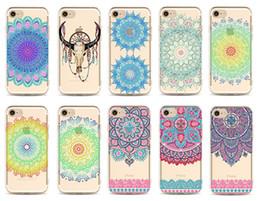 Canada Transparent multicolore Floral Paisley Fleur Mandala TPU Housse Pour iPhone 4s 5c 5s 6 6s 6plus 7 7Plus Offre