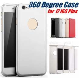 Wholesale Green Plastic Screen - 360 Degree Full Cover Hard PC Case For Iphone 8 Plus With Screen Protector Back Cover With Hole For Iphone 7 6S SE Samsung S8 A5 MOQ:50pcs