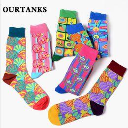 2019 meias grandes meninas Moda womenmen grandes olhos Meias Meias amantes coloridas meias meias comprimento meia-calça meninos meninas meias algodão polainas meias grandes meninas barato