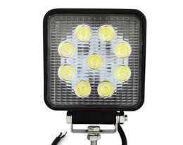Wholesale 12v Led Motorcycle Spotlights - 27W LED Work Light for Utility Construction IP65 9*3W Spotlight 12V-30V Truck Motorcycle Boat Lamp 1890lm