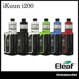 Wholesale E W Coil - Authentic Eleaf iKuun i200 TC Kit with 2ml Melo 4 D22 Atmoizer Built-in 4600mAh Battery w  EC2 Coil i200 E-cig Vape Kit