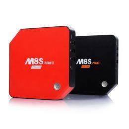 Wholesale Set Top Box Tv Tuner - Android 6.0 TV Box M8S Plus II Set Top Box Amlogic S912 2G 16G 3G 32G Gigabit 2 Wifi Bluetooth 4.0 Kodi 17.0 Smart TV Box