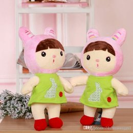 Wholesale Jelly Hat - New Arrival Official Metoo Dolls Plush Sugar Bean Jelly Dolls Best Gifts for Girls Kids With Gifts Box Hat Cute doll