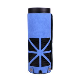 Wholesale Amazon Cover Light - Fashion PU leather case Protective for Amazon Echo - Light Weight Shock Proof [Anti Slip] Stand Station Protective Cover Sleeve Skins, Blue