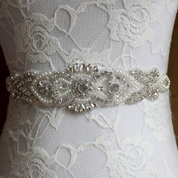 Wholesale Bling Wedding Sashes - 2017 Wedding Ribbon Sashes Bridal Accessories with Rhinestone Pearls Seeds Multicolour Bling Colorful Hand-Made Bride Waistband
