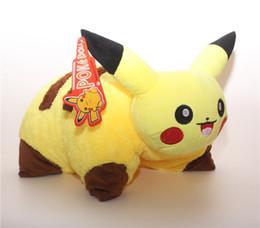 Wholesale Doll 38 - Wholesale- 38*45cm Pikachu Pillow Soft Stuffed Animal Plush Doll Toys Cute Cartoon Toypia Plush Cushion Home & Garden Pillow For Children