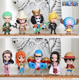 2019 une pièce chiffres robin One Piece 68 Edition Figurines 10 pcs / set échelle peint figure 2 ans plus tard Luffy Zoro Chopper Robin Poupées PVC Anime figure Jouets promotion une pièce chiffres robin