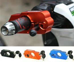 Wholesale Ktm Brake Lever - Free shipping CNC cut Aluminum Handle Grip Security Lock Handlebar Brake Lever Lock for all Scooters Motorcycles Street Bikes