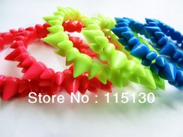 Wholesale Spike Wrap Bracelets - Wholesale-2016 New Punk Stretch Spike Rivets Bracelets For Women Men Neon Color Casual Wrap Charm Bracelets Bangles Fashion Jewelry 2016