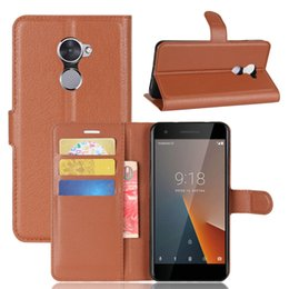 Wholesale v8 cover - Flip Case for Vodafone Smart V8, TPU Soft Case+PU Leather Wallet Stand Case Cover with Card Slot